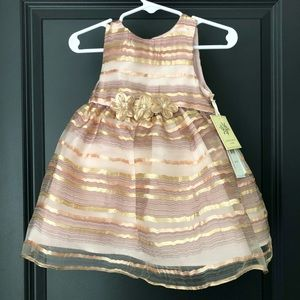 Laura Ashley Beige Girls Dress 🤎